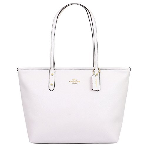 Coach Bag (Tote Bag) F58846 Leather Tote Bag Women's [Outlet Item] [Parallel Import Goods] (chalk)