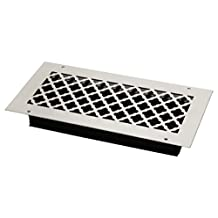 SteelCrest BTU14X6SWHH Bronze Series Designer Wall/Ceiling Vent Cover, with Air-Volume Damper, and Mounting Screws, White