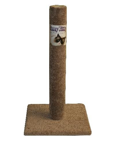 Classy Kitty 32'' Cat Carpet Scratching Post 16.5x16.5x 32, Assorted Colors by North American Pet