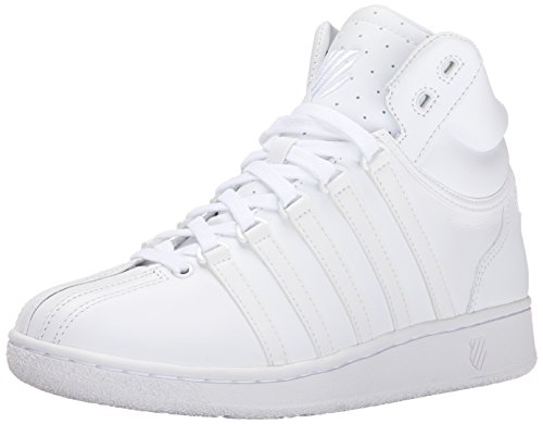 K-Swiss Women's Classic VN Mid Casual Shoe, White/White, 9 M US