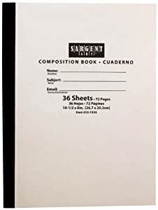 Sargent Art 23-1533 36-Sheet Soft Cover Composition Book