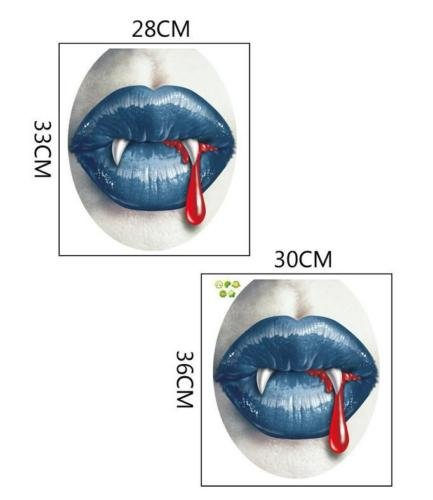 [DASARA 3D Zombie Lips Halloween Toilet Stickers Room Wall Decal Mural Home Decor Art] (Best Costume Award Printable)