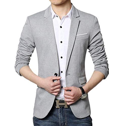 Botón Los Con Ropa Negocios De Fashion Traje Chaqueta Blazer Grau Saoye Hombres Ajuste YvqPRZwn