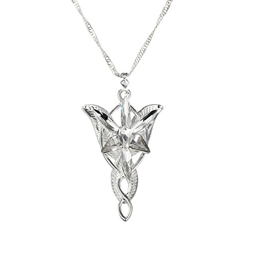 Sinymilk Fashion Jewelry Arwen Evenstar Pendant Elf Princess Resin Diamonds Necklace