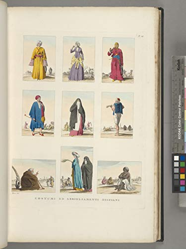 Illustrations Poster - Costumi ed abbigliamenti egiziani. 24