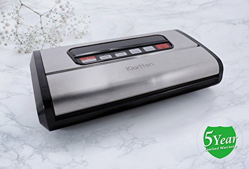 Kiartten Vacuum Sealer, A Fresh Food Locker for Your Kitchen. Keeps Food Fresh Up To 5X Longer. (Stainless Steel) by Spreaze (Image #2)'