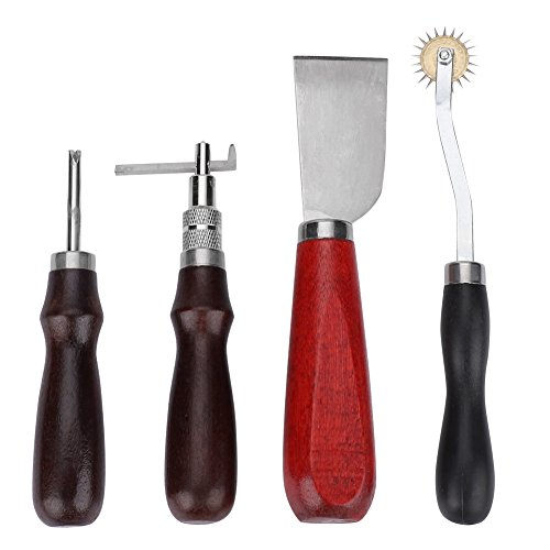 20pcs Leather Craft Tools Punch Kit Stitching Working Stitching Groover Sewing Set by Wal front (Image #4)