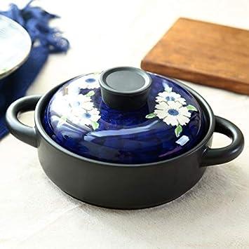 Cazo Cacerolas EsmalteCacerola de leche Cacerola de esmalte Cacerola de cerámica de alta temperatura creativa Orquídeas pintadas a mano ...