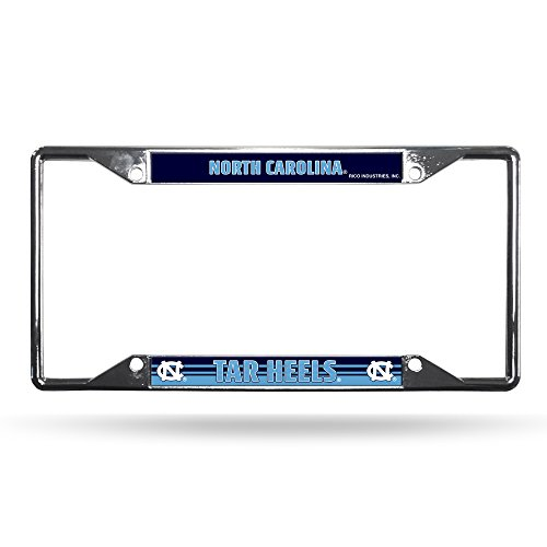 (Rico Industries NCAA North Carolina Tar Heels Easy View Chrome License Plate Frame)