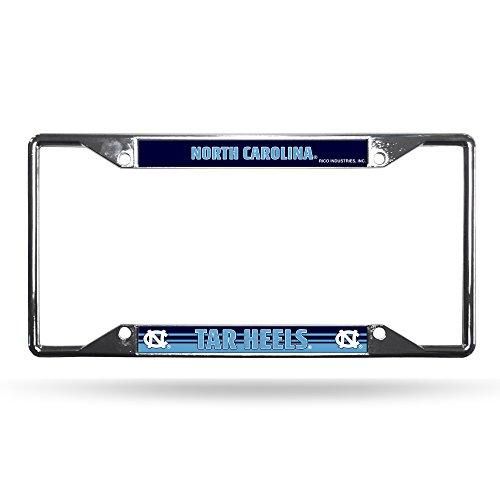 Rico Industries NCAA North Carolina Tar Heels Easy View Chrome License Plate Frame ()