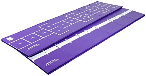 Tumbl Trak Girl's Gymnast Hopscotch Mat, Purple, 3 x 12-Feet x 1 - Mat Scotch