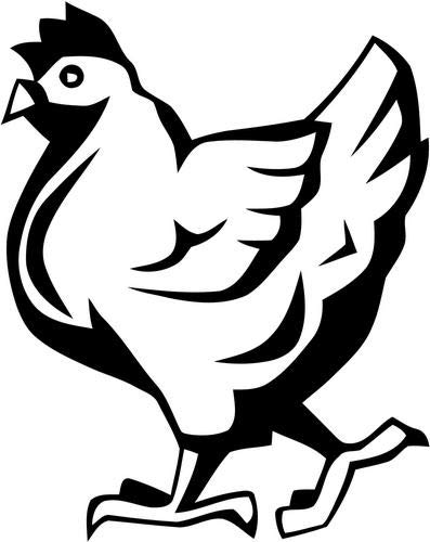 Mandy Graphics Chicken Hen Egg Farmer Farm Vinyl Die Cut Decal Sticker for Car Truck Motorcycle Windows Bumper Wall Home Office Decor Size- [8 inch/20 cm] Tall and Color- Gloss White