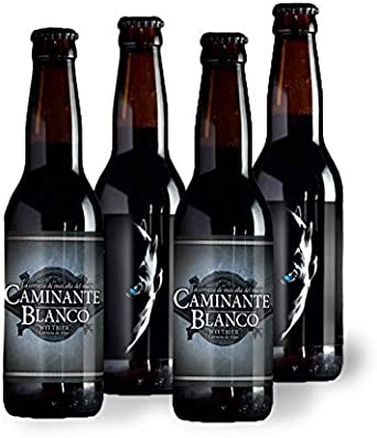 PACK 4 Cervezas Artesanas Caminante Blanco 33 cl: Amazon.es ...