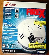 Cheap Kidde KN-COPE-IC Smoke and Carbon Monoxide Alarm 120V AC Wire w/ Front Loading Battery Back Up LOT of 2