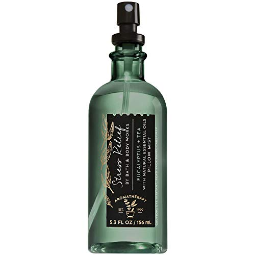 Bath and Body Works Aromatherapy Stress Relief - Eucalyptus Tea Pillow Mist 5.3 Fluid Ounce (2019 Edition)