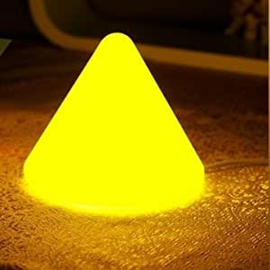 Fashion Cute Led Pyramid Small Night Light Bed-lighting 220V --- Color:White