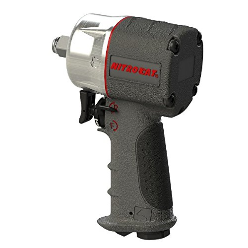 AIRCAT 1076-XL Kevlar Composite Compact Impact Wrench, 3/8'', Silver & Grey by AirCat