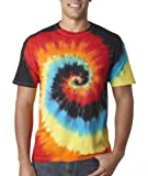 Adult Swirl Tie-Dyed Cotton Tee (Eclipse Swirl) (4X-Large)