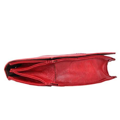 Mode Sac Tannage Petit à Carré Rétro Messenger Bag Main Femme La En Sac Végétal 2018 Cuir Sac De Tête Couche Nouvelle Cuir Rouge En RFqdUFxIw
