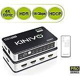 Kinivo 550BN 4K HDMI Switch with IR Wireless Remote (5 Port, 4K 60Hz HDR, High Speed-18Gbps, Auto-Switching)