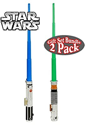 Star Wars Anakin Sywalker & Luke Skywalker BladeBuilder Extendable Lightsabers Gift Set Bundle - 2 Pack