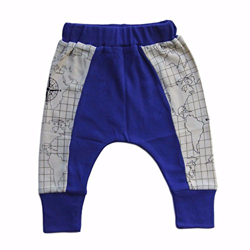 Cat & Dogma - Certified Organic Baby Clothing - Harem Pants - Map (12 - 18 Months)