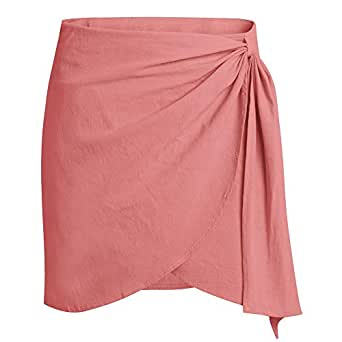 Amazon.com: JJNGJ Hemp Skirt, Women's Explosions Irregular