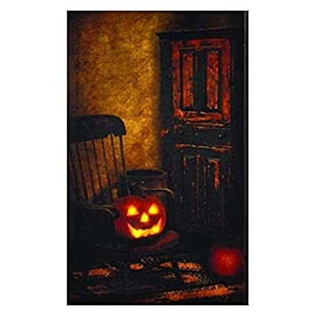 Primitive Rocking Chair LED Light-up 20 x 12 inch Halloween Stretched Canvas Wall Art  sc 1 st  Amazon.com & Amazon.com: Primitive Rocking Chair LED Light-up 20 x 12 inch ...