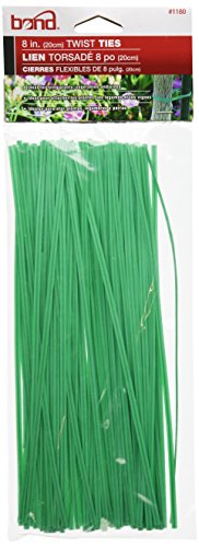 Bond 1180 Plastic Coated Twist Tie, 8-Inch Length, Pack of 100 (Ties Twist Plastic)