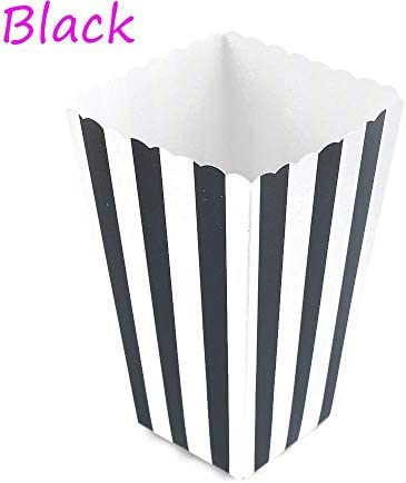 aiwikang 12 PCS heiß Mini - partygeschenke der Film liefert Streifen Popcorn - Box Fall papiertüte(Black)