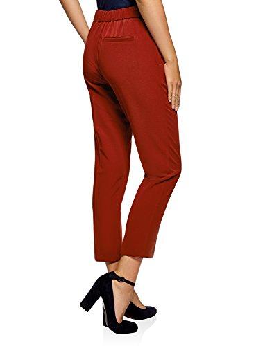 Oodji Cintura Pantalones 3100n Ajustados Mujer Con Ultra Elástica Rojo rPOqAwxrR