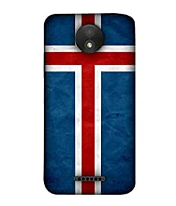 ColorKing Football Iceland 01 Blue shell case cover for Motorola Moto C