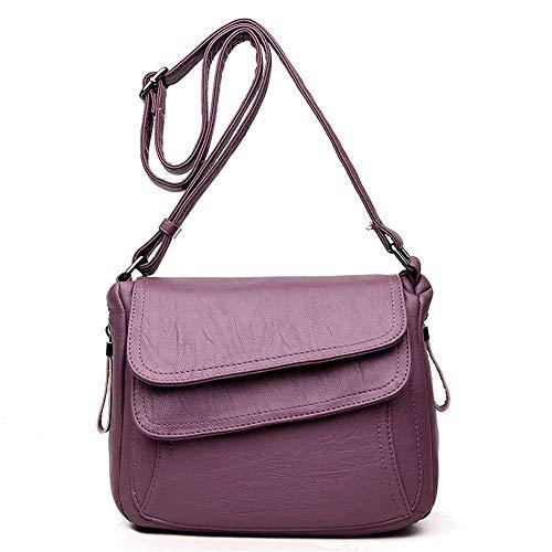 Rojo Gris Simple y Bandolera tamaño Generoso Cuadrado pequeño Bolso Bandolera Bolso Bolso Bolso Color Púrpura Eeayyygch PU 176pxC