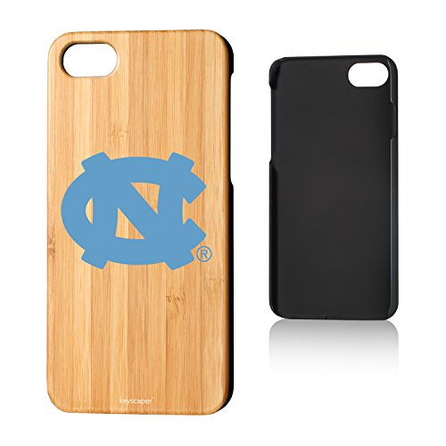 Keyscaper North Carolina Tar Heels Bamboo iPhone 7/iPhone 8 Case NCAA ()