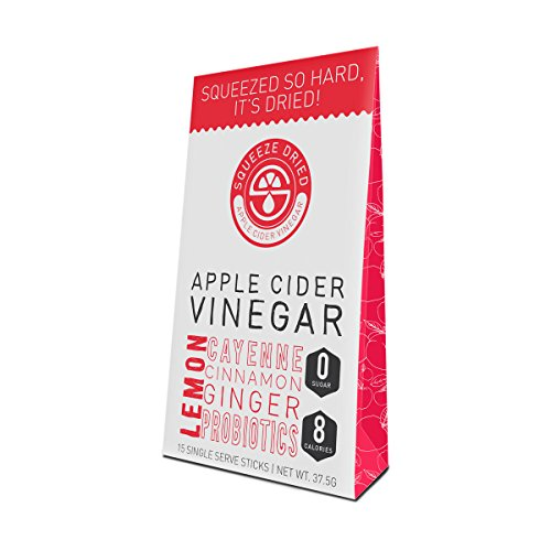 (Squeeze Dried Apple Cider Vinegar: Natural Bloat Relief, Detox, Inflammation, Digestion & Circulation with Probiotics - 15 Count Sticks)