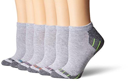 (Hanes Women's 6-Pack Sport Cool Comfort No Show, Grey Charcoal Heather Assortment,)