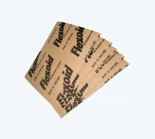 Flexoid Papier joint d'étanchéité, de 1,6mm d'épaisseur–5x feuilles au format A4–résistant à l'huile et à l'eau