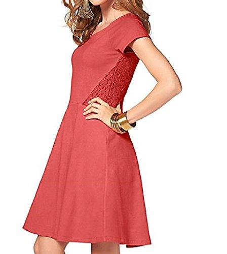 db91b7d9db0 Damen Kleid in Gr 38 S Orange Spitze Knielang Sommerkleid