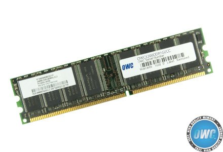 OWC 1.0GB DDR PC-3200 400MHz DIMM Module Model OWC3200DDR1GECC