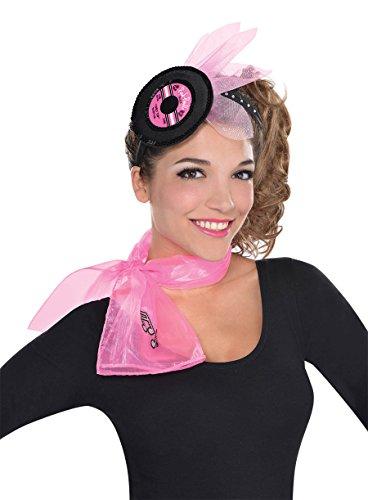 [Nifty 50's Theme Party Record Headband Accessory, Free size] (Hand Jive Costumes)