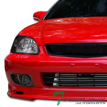 Jdm Smoke Clear Front Bumper Fog Lights Lamps+Switch Honda Civic 2D/3D/4D