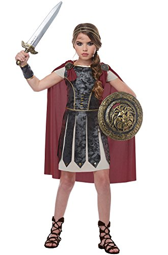 California Costumes Roman Hercules Fearless Gladiator Girls Costume, Black/Red, Small -