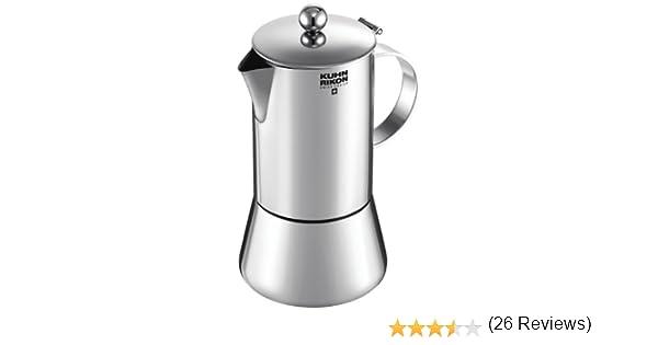 Kuhn Rikon 38094 Cafetera Italiana Espresso Juliette Acero Inoxidable 0,3L 6 Tazas inducción: Amazon.es: Hogar