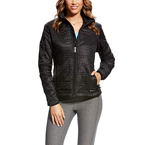 ARIAT Women's Ideal Quilted Wind Jacket Black ()