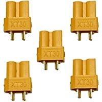 RC Drone Female XT30 Li-Po Battery Power Nylon Connectors Plugs for 30A Continuous Applications (Battery Side)