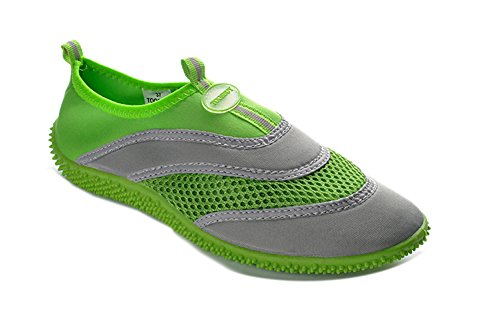 tosbuy-girlss-slip-on-water-shoes-beach-aqua-green-size-27