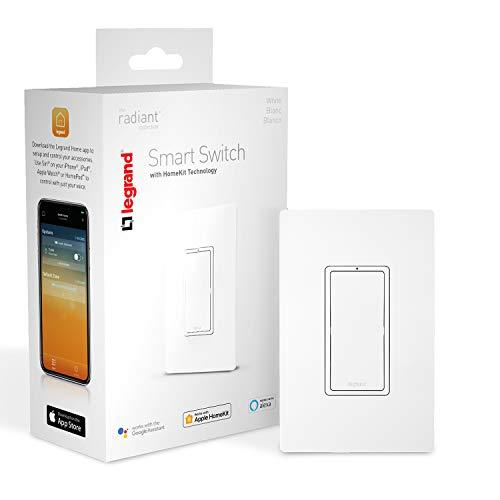 Legrand, Smart Light Switch, Apple Homekit, Quick Setup on iOS (iPhone or iPad), No Hub Required, HKRL10