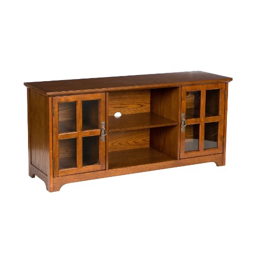 50'' Mission Style TV Media Stand Console , Walnut Finish by FurnitureMaxx (Image #4)