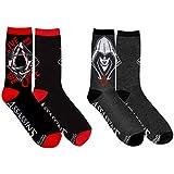 Assassin's Creed Socks (2 Pair) - Women & Men Socks (1 Size) - Unisex Crew Socks