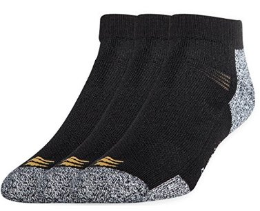 Powersox power-lites by Gold Toe- Low cut sock for men- Medium 2 Pack(6 Pairs)black/grey, size M (Cut 2 Pack Socks)